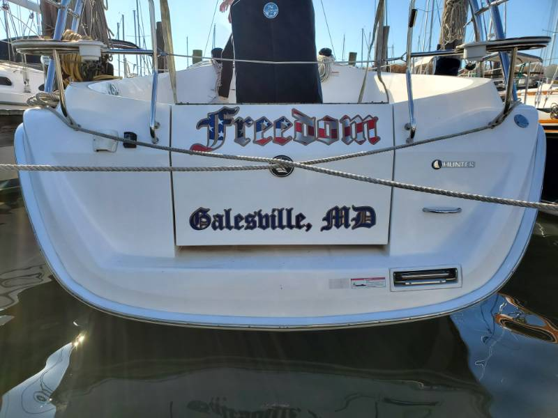 2012 Hunter e36 Yacht Lettering from Edward W, MD