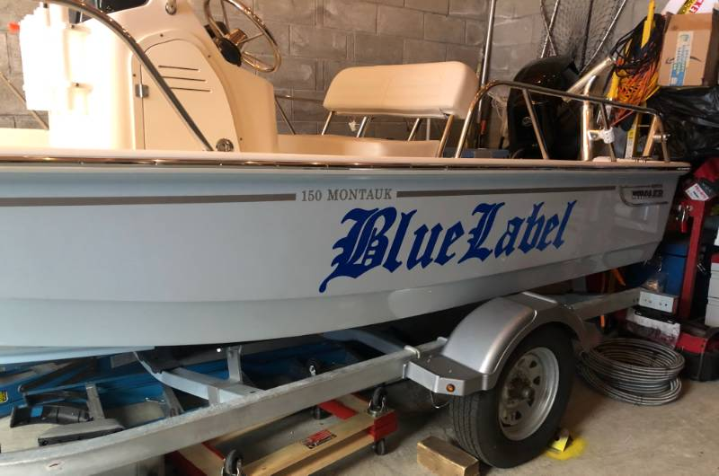 Boston Whaler Montauk 150  Boat Lettering from Manny B, NY
