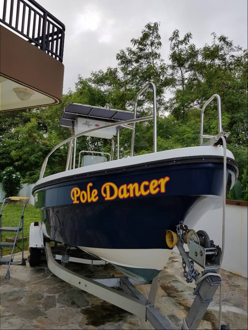 22 ft. Panga Boat Lettering from Ruby R, GU