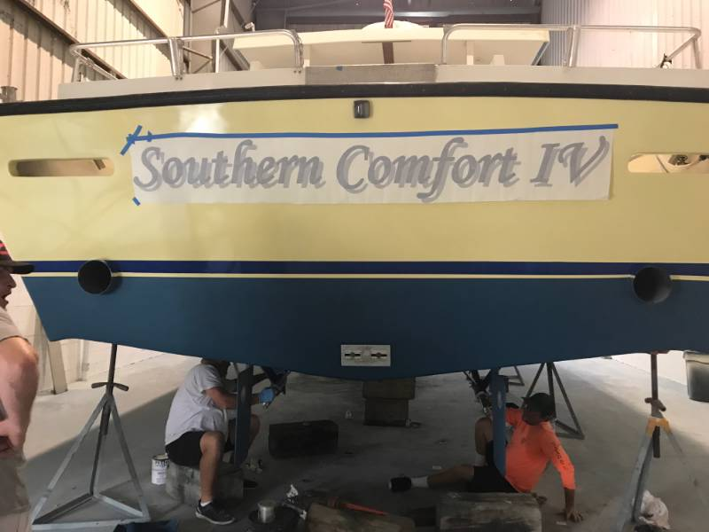 Boat  Lettering from Sandy S, FL