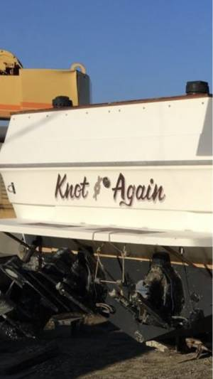 1986 Searay Amberjack boat Lettering from Michael R, PA