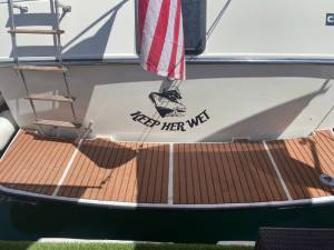 1984 Carver 36 aft cabin yacht Lettering from Mike H, AZ