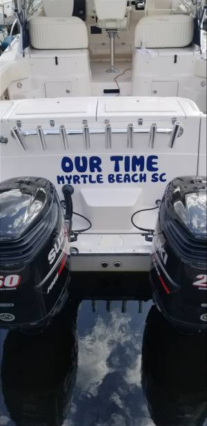 2002 Grady White 330 Express Boat Lettering from Russell J, SC