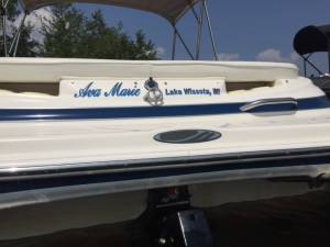 2010 Maxum Boat Lettering from Thomas J, WI