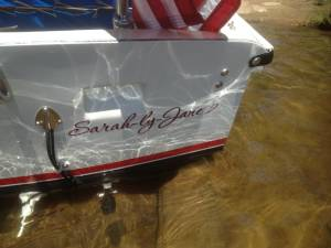 1973 Boston Whaler Sourpuss Fiberglass Lettering from Richard L, NY