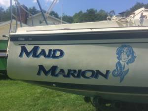 Oday 23 sailboat Lettering from David T, NC