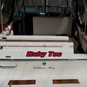 1986 Sea Ray Sundancer 268 Boat Lettering from Robert H, MA
