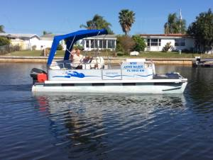 Northwood Pontoon Boat Named our boat. Put it on metal Lettering from Anne Marie A, FL