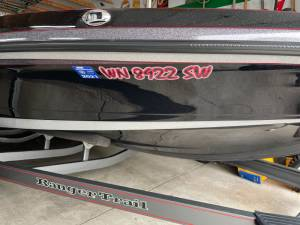 2014 Ranger Z 520 Comanche  Boat Lettering from James F, WA