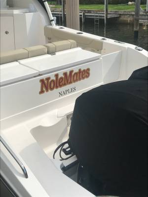 30 ft Pursuit Boat Lettering from Brian G, FL