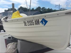 Fatty Knees 8 Fiberglass Dinghy Lettering from Michael B, PA