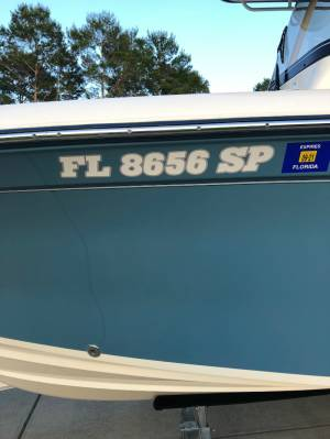 2020 Grady White Fisherman 216  Boat Lettering from Williiam W, FL