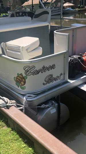 Pontoon Boat Lettering from Melinda G, PA