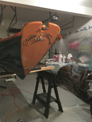 Northeaster Dory Sloop rig, kit from Chesapeake Light Craft  Boat Lettering from Fredric S, MA