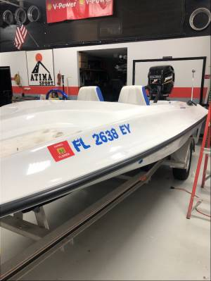 1985 19ft ACTION MARINE  Boat  Lettering from Luis A, FL