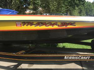 1991 Norris Craf Bass Boat Lettering from Christopher  S, TN