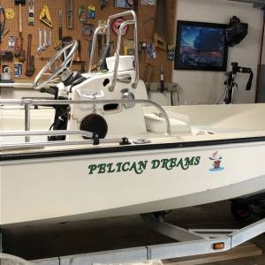 1981 15 ft. Boston Whaler Fiberglas boat Lettering from Ronald O, TX