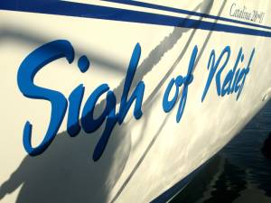 Boat lettering for Alan