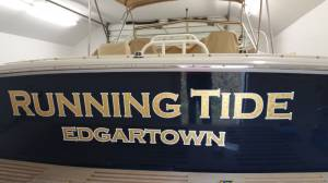 Boat Decals Running Tide