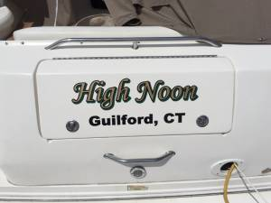 Boat Lettering High Noon