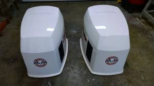 Boat Motor Cover Decals