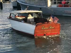 1956 Chris Craft 24 ft Semi-enclosed Boat Transom Lettering from Gerard M, NJ