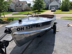 1957 Seaking Runabout Vintage polished aluminum boat Lettering from Michael C, OH