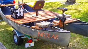 Two Old Town 17 foot canoes My custom Cat Canoe I made Lettering from Tom K, FL