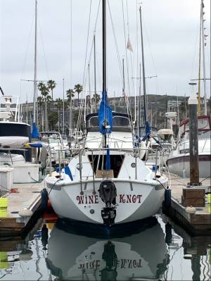 25ft Ericson  Sailboat Lettering from Marie M, CA