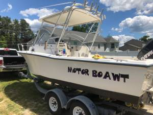 Seahunt Victory 215 Boat Lettering from William W, NJ