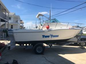1996 sea swirl striper Boat Lettering from Dennis  H, NJ